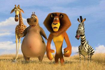 Lew, Hipopotam, żyrafa i zebra - film madagaskar ciało w psychoterapii Gestalt na przykładzie zwierząt
