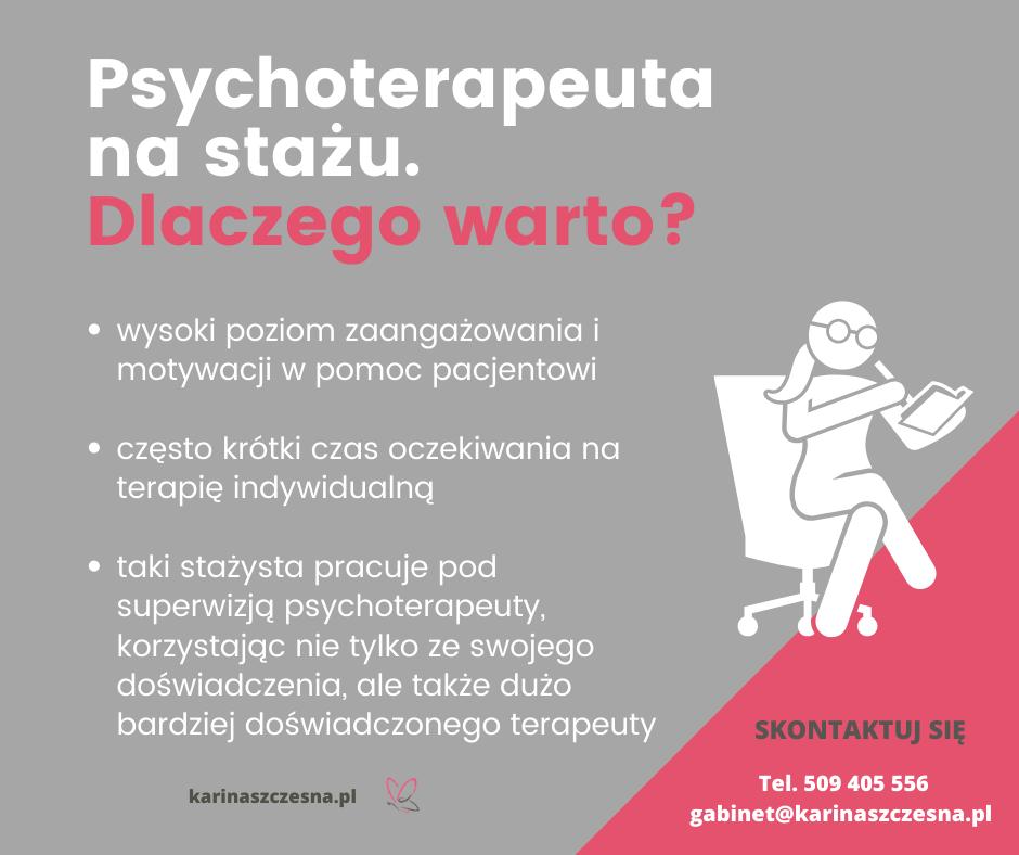 Psychoterapeuta na stażu